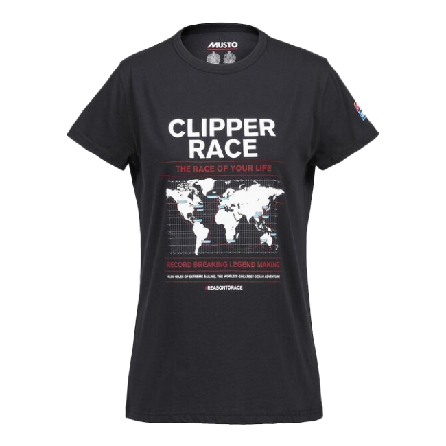 WOMENS CLIPPER RACE MAP SHORT SLEEVE T-SHIRT